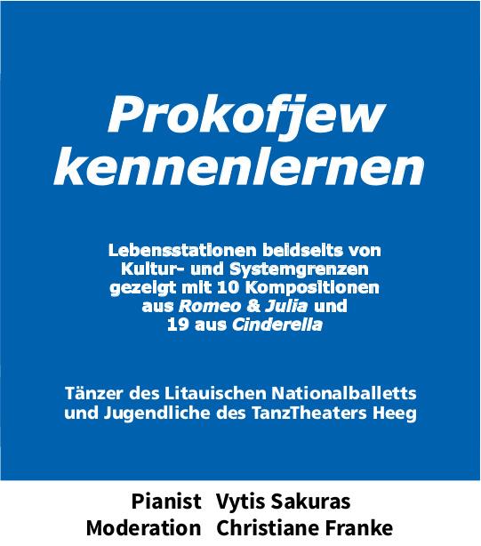 Prokofjew Plakat Sakuras Litauen Nationalballett Heeg